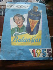 CALENDARIO 1955 BUTAN GAS GARAGE OFFICINA CICLI VESPA OLD MOTO MADE IN ITALY