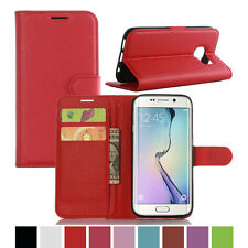 Luxury Card Wallet Stand Flip PU Leather Case Cover For Samsung Galaxy S7-Red