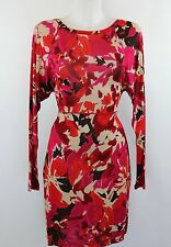 Missoni Red Floral Print Long Sleeve Dress Size 44/10