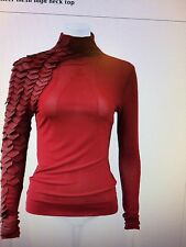Gracia pleather trimed sheer mesh high neck top( see through)