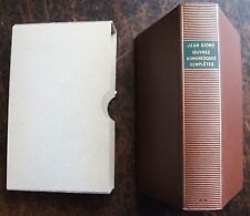 PLEIADE JEAN GIONO, 1971, 1 volume, oeuvres romanesques completes