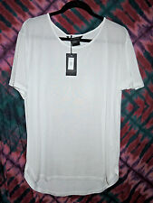 ARMANI EXCHANGE Women's White T-Shirt- Size LARGE- Retails $59.50