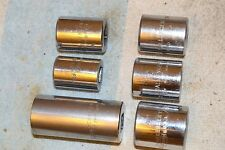 CHALLENGER 3/8 drive SOCKET GROUP 6 DIFFERENT QUALITY VINTAGE USA TOOLS