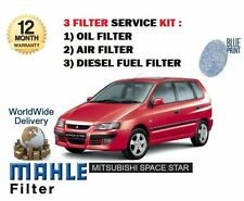 FOR MITSUBISHI SPACE STAR 1.9DT DiD 2002-7/2005 NEW OIL AIR FUEL FILTER (3) KIT