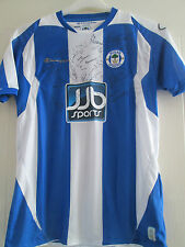 Wigan Athletic 2008-2009 Squad Firmado Home Football Shirt Coa / 39444