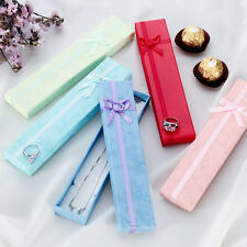 5Pcs Jewellery Display Long Gift Boxes with Bow for Necklace/Bracelet/Watch Case