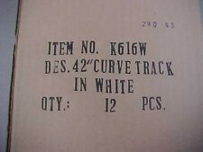 RARE..full circle of 12 pieces 616w 042...super K track white for girl's train