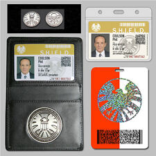 Agents of S.H.I.E.L.D. Shield Badge Holder + 2 Customaized ID cards + FREE Coin