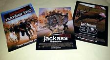 "JACKASS SET OF 3 CAST PP SIGNED 12""X8"" POSTERS JOHNNY KNOXVILLE"