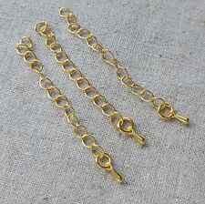 20 pcs Gold tone Extension Extender Chain Tail Links with teardrop