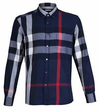 Burberry Brit NAVY Men Long Sleeves SHIRT LARGE