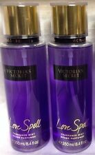 2  Victoria's Secret Fragrance Perfume Mist For Women Love Spell 8.4 oz Fantasy