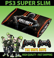 PLAYSTATION PS3 Super Slim CALL OF DUTY BLACK OPS III cod BO 3 skin adesivo