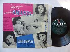 """25 cms 10"""" EDDIE BARCLAY  EMIL STERN  Musique pour les amants CLAUDE BORELLI"""
