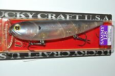 """lucky craft sammy 128 topwater lure 5"""" 1oz floating ghost tennessee shad pencil"""