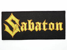 SABATON Logo Heavy Metal Embroidered Iron On Shirt Applique Badge Patch 4""