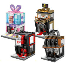 4X shop blocks toys MINI city street scenery Children's gifts with out box