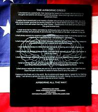 Personalized LASER ENGRAVED AIRBORNE CREED, granite plaque gift, military 82ND