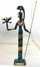 Ancient Greek Bronze Museum Statue Replica Of Athena Wth A Spear And Winged Nike