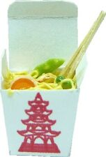 Dollhouse Miniature Chow Mein Chinese Take Out by Bright deLights