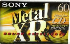 5 Pack | Sony Metal XR-60 | Cassette Tape | Metal Position | Type IV