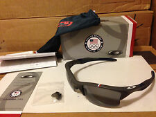 NEW Oakley - Team USA HALF JACKET 2.0 XL - Dark Grey / Grey Polarized, OO9154-14