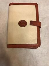 Dooney & Bourke All Weather Leather Cream Planner Organizer Agenda Passport