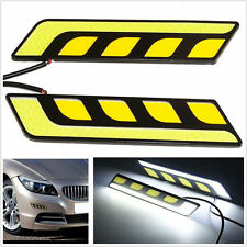 2 x COB LED CAR Light Lamp Bulbs DRL- WHITE Fog Light & Turn signals -YELLOW
