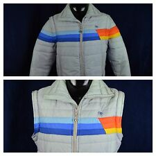 OP Ocean Pacific Vintage 80s Convertible Ski Vest Jacket Mens XL Rainbow AWESOME
