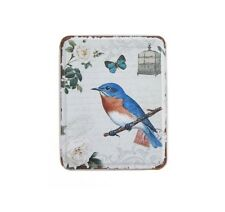 NEW VINTAGE STYLE BLUE BIRD METAL TIN COINS BOX JEWELLERY TRINKET BOX