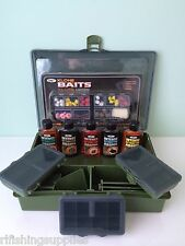 Carp Fishing Loaded Tackle Box + 51 pc Artificial Bait Bread Corn + Attractors