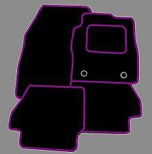 Mini Cooper 2001-2006 TAILORED CAR FLOOR MATS BLACK WITH PURPLE TRIM