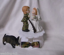 Wedding Reception Party ~Hog Hunter~ Camo Camouflage Groom Hunting Cake Topper
