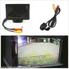 "Waterproof 170° CCD Car Reverse Backup Parking Camera & 4.3"" LCD Screen Monitor"
