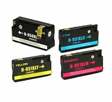 4 NON-OEM 950XL 951XL INK CARTRIDGES HP OFFICEJET PRO 251DW 276DW 8600 8600A