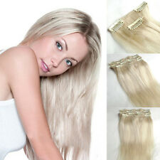 "16 Clips/set  18"" Clip In 100% Real Human Hair Extensions Full Head 70g"
