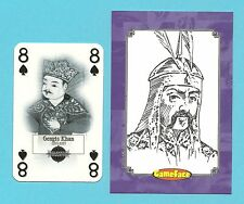 Gengis Khan Mongol Empire Fab Card Collection Central Asia and China