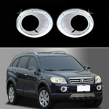 Chrome Fog Light Lamp Molding Trim Cover for 06-11 Chevrolet Captiva