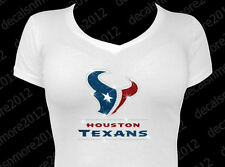 NFL - Houston Texans Bling - Iron-on Glitter Vinyl & Rhinestone Transfer