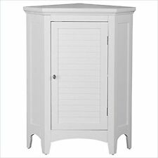 Elegant Home Fashions Slone Corner Floor Cabinet W/ 1 Shutter Door White Elg-586