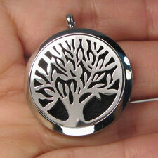 Aromatherapy Essential Oils Diffuser Stainless Steel Tree of Life Locket G1