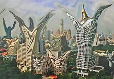 Manipulated Photo Canvas Print. David Barratt Hungry Ghosts Series M Thai Towers