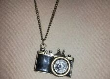 Cute Vintage Inspired Camera Necklace Bling Jewelry