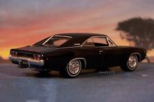 TRIPLE BLACK 1968 DODGE CHARGER R/T 1/64 SCALE COLLECTIBLE MOPAR MODEL - DIORAMA