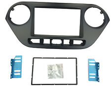 2 Din Audio Stereo Panel Dash Installation Kit Fascia for 2014 Hyundai i-10 Trim