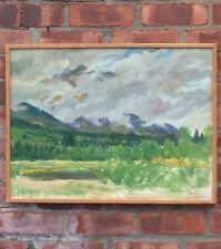 Original Paul Bransom Oil Painting. Bear Paw Ranch Wyoming. Signed
