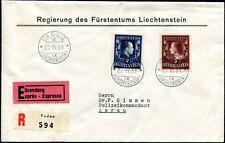 LIECHTENSTEIN 1951 304-305A TADELLOSER FDC 1300€++(S7411