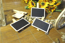 10pcs Mini Wooden Blackboard For Writing/Clip Shop Display Wedding Table Favour