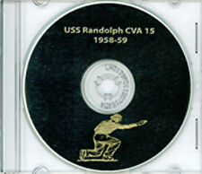 USS Randolph CVA 15 Med CRUISE BOOK 1958 - 1959 CD  Crew Photos Navy