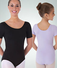 Body Wrappers BWP222 Women's Extra Small Black Short Sleeve Ballet Cut Leotard